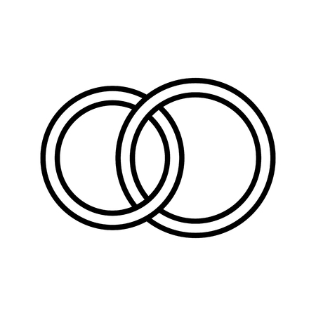 Pair rings, marriage rings - line icon Banque d'images - 123803203