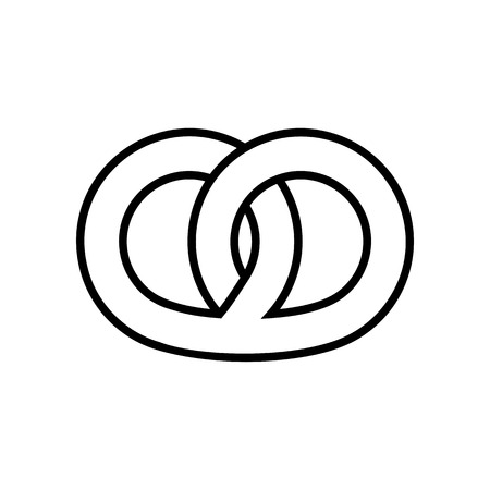 Pretzel line icon. Graphic elements for your design Banque d'images - 123803205