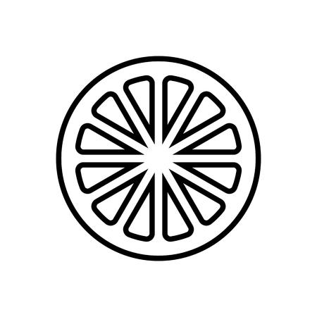 Slice of lemon,orange or other citrus fruit - line icon Banque d'images - 123803206