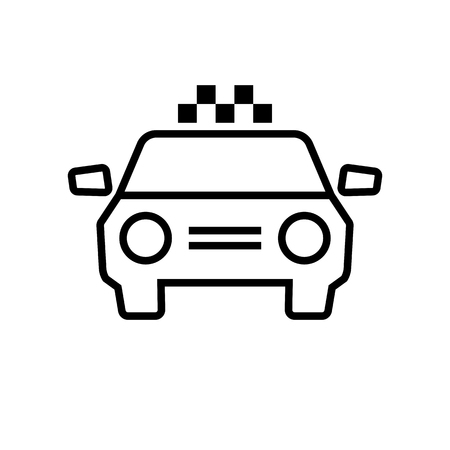 Taxi Car with chequered patern. Graphic elements for your design Banque d'images - 123803207