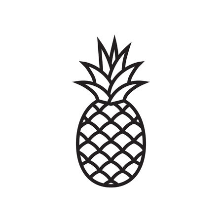 Pineapple icon. Element for your design. Banque d'images - 123803211