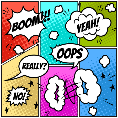 Set of comic speech bubbles Banque d'images - 123300070