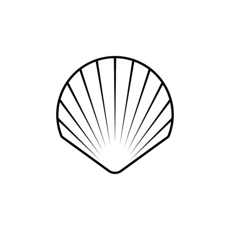 Shell line icon. Elements for your design Ilustrace