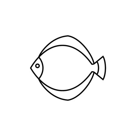 flatfish - line icon.