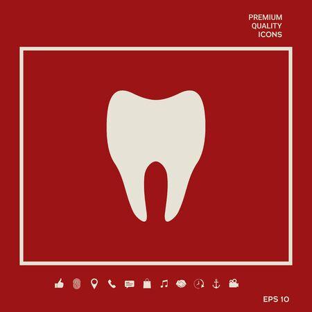 Tooth symbol silhouette 向量圖像