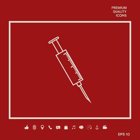 Medical syringe symbol