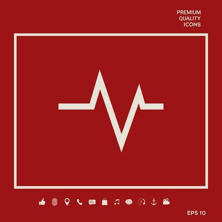 ECG wave - cardiogram symbol. Medical icon. Element for your design 向量圖像