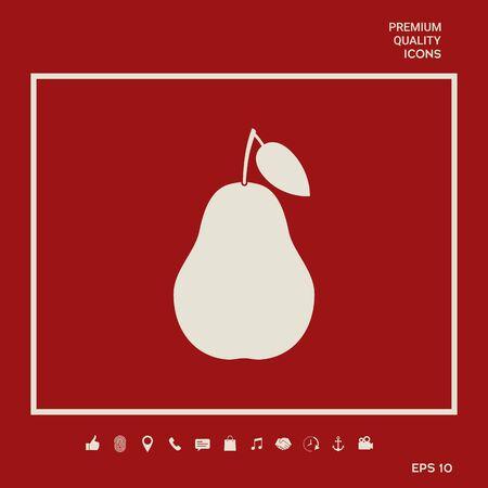 Pear symbol icon