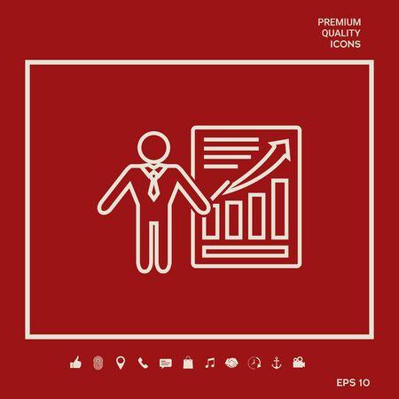 Presentation sign icon. Illusztráció