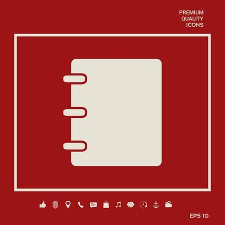 Notebook, address, phone book symbol with blank cover Illusztráció