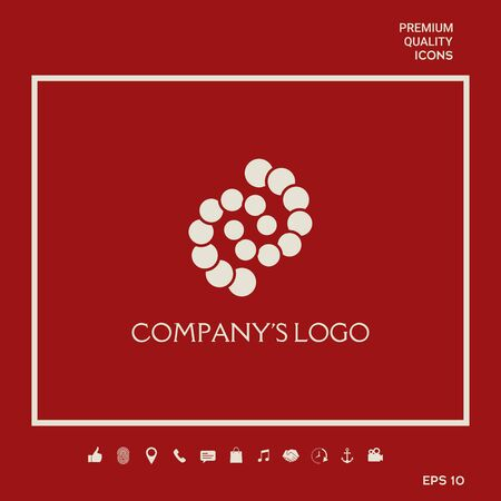 Logo - two spirals, chains of circles