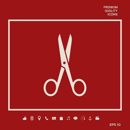 Scissors symbol icon Illusztráció