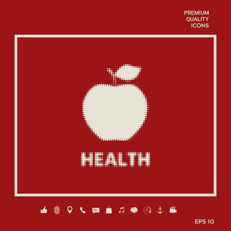 Apple - halftone logo. Element for your design Иллюстрация