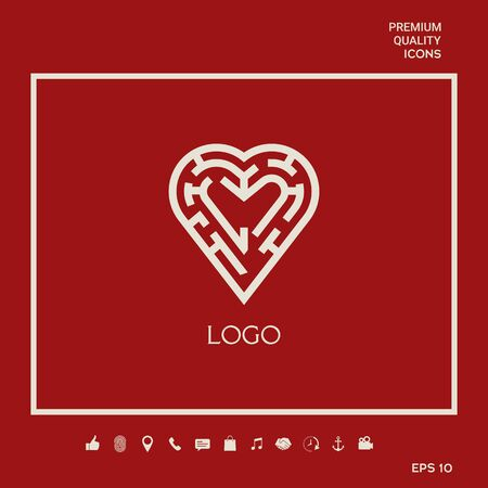 Logo - a labyrinth in the heart