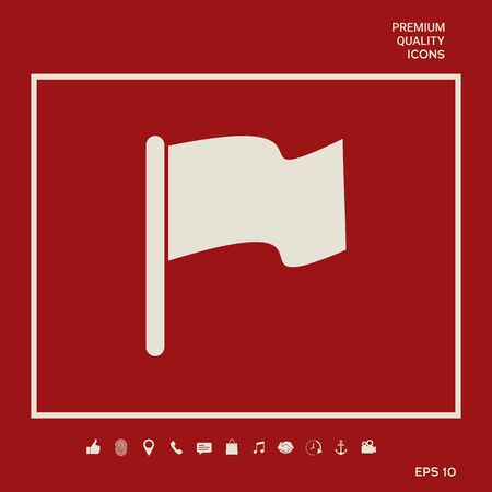 Flag symbol icon Illusztráció
