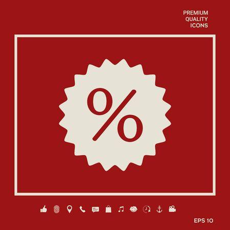 Sign, percent symbol discount icon