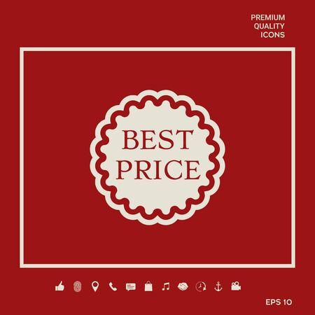 Best Price label icon. Element for your design Illusztráció
