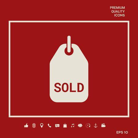 Sold symbol tag