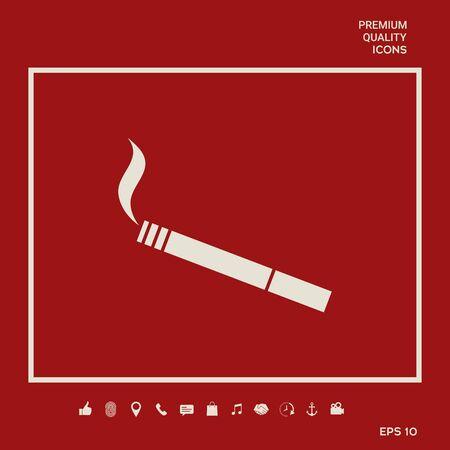 Cigarette symbol icon. Element for your design