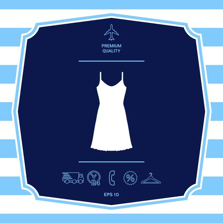 Sundress, Evening dress, combination or nightie, the silhouette.