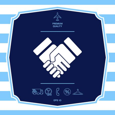 Handshake stylized symbol