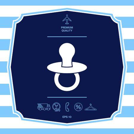 Baby pacifier -  icon. Element for your design Illusztráció