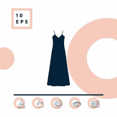 Long Dress, Evening dress, combination or nightie , the silhouette.