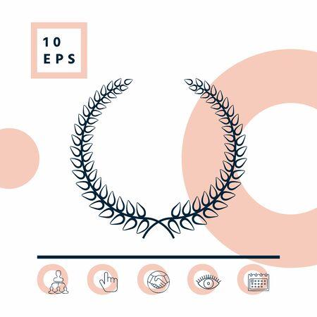 Laurel wreath - elegant symbol for yor design Ilustrace