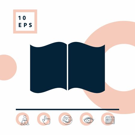 Open book icon, elements for your design
