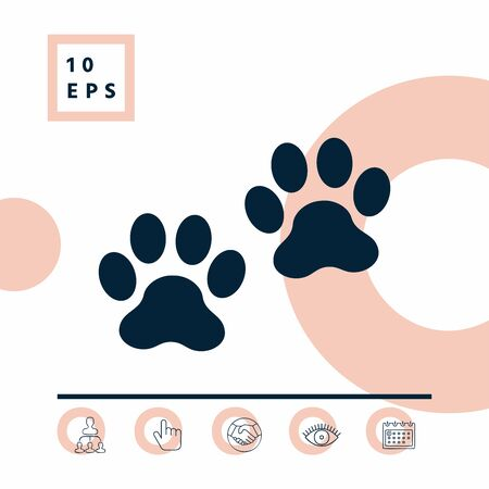Paws symbol icon, elements for your design