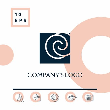 Logo - two spirals are located asymmetrically in a square