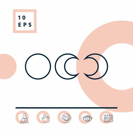Phases of the moon - line icons