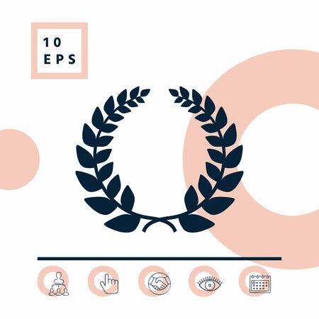 Laurel wreath symbol Ilustrace