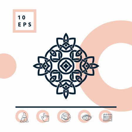 Logo. Geometric oriental arabic pattern. Elements for your design