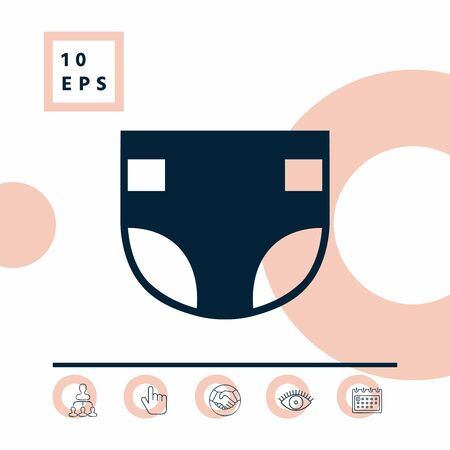 Nappy symbol icon, elements for your design Illustration