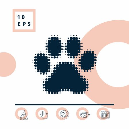 Paw symbol icon, elements for your design