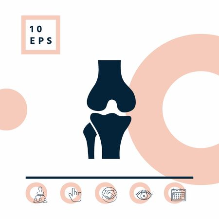 Knee joint icon. Elements for your design