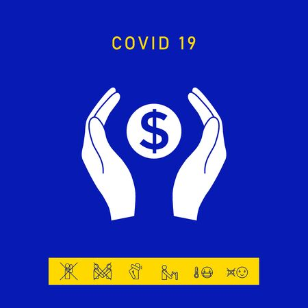 Hands holding money - dollar symbol