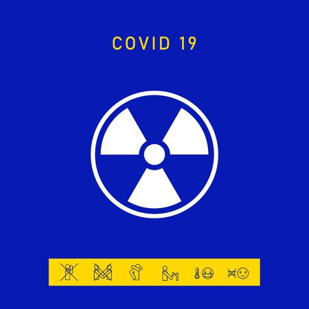 Ionizing radiation icon. Elements for your design Ilustração