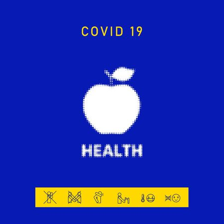 Apple - halftone logo. Element for your design 向量圖像