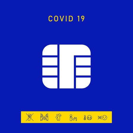 Chip of credit card icon. Element for your design