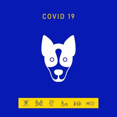 Dog - logo, symbol, protect sign. Element for your design