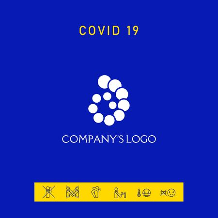The logo is a spiral, a spiral chain of circles, the shell