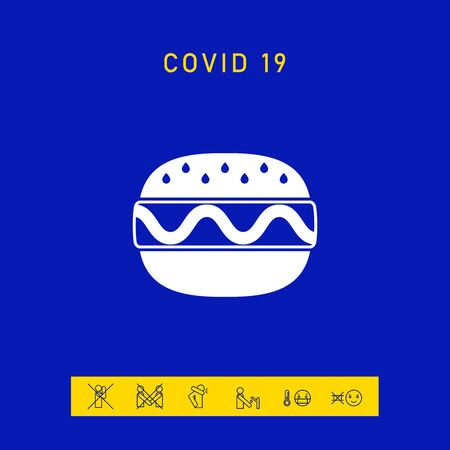 Hamburger or Cheeseburger icon. Elements for your design 向量圖像