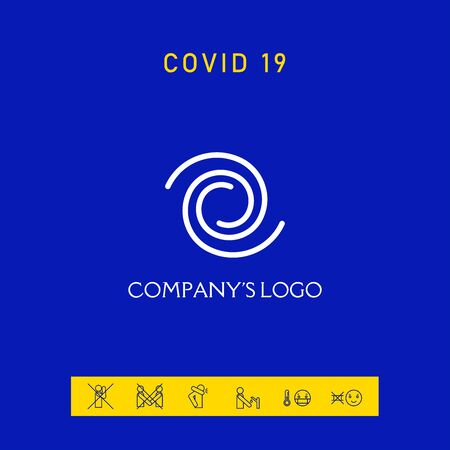 Logo - two spirals. Elements for your design