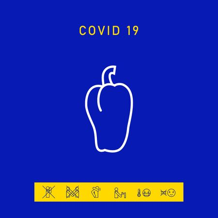 Bell pepper icon. Signs and symbols for your design 版權商用圖片 - 144676111