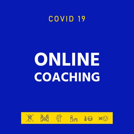 Online coaching icon, elements for your design Vettoriali
