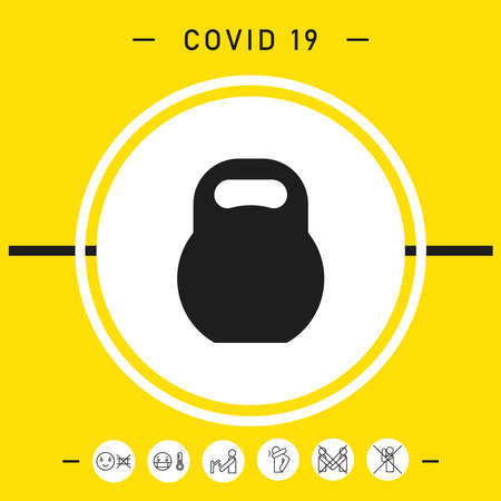 Kettlebell symbol icon. Elements for your design