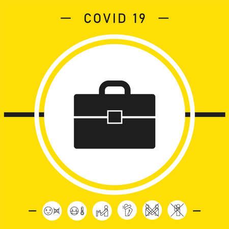 Portfolio symbol icon, elements for your design