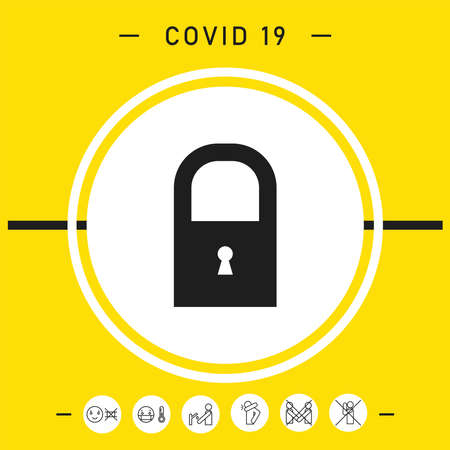 Lock symbol icon. Elements for your design